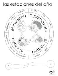 season wheel bw spansih spanish homework printables on la ropa worksheet