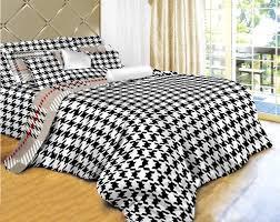 dorm room bedding 4 piece egyptian cotton duvet cover set dolce mela houndstooth check dm498t