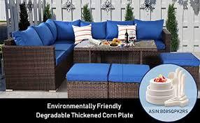 outime patio furniture garden 9 seats