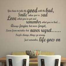 good with the bad wall sticker inspirational e wall decal kitchen home decor