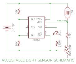 Light Alarm Circuit With Ldr Light Sensor Circuit Using Ldr And 555 Timer Ic With