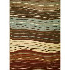 concord global trading chester waves multi 3 ft x 4 ft area rug