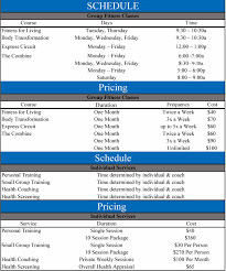 Personal Training Chart Iowa Illinois Physical Therapists Rock Valley Physical