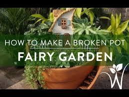 how to make a broken pot fairy garden