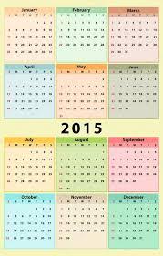Kalender 2015 Stockvektor Olivi 53339497
