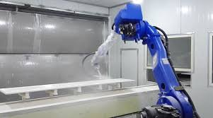 automatic robot spray painting line of furniture