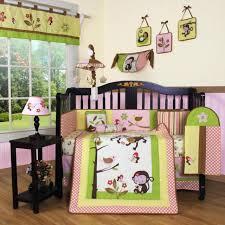 girls crib bedding set monkey pink yellow 13 piece baby infant toddler quilt new