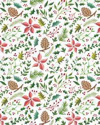 Christmas Pattern Stunning Christmas Foliage Pattern Sara Mulvanny Illustration