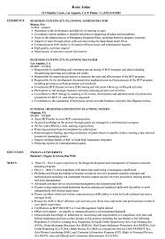 Business Resume Business Continuity Planning Resume Samples Velvet Jobs 14