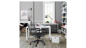 offices to go chairs. stylish white rolling office chair go cart desk cb2 offices to chairs