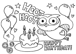Small Picture Happy Birthday Coloring Page Gigle Hoot Hoot Birthday Coloring