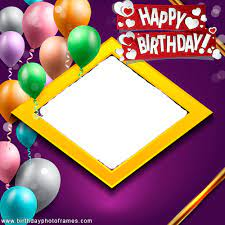 birthday wish frame with name