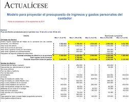 Modelo Para Proyectar Presupuesto De Un Contador