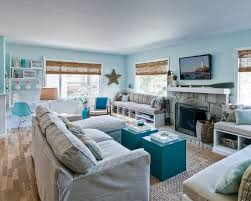 beach living room design. blue beach-style living room beach design a