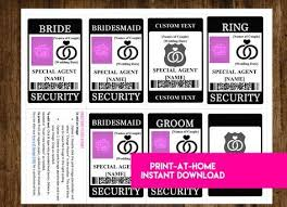 Word Badge Template Instant Download Ring Security Badge Wedding Security