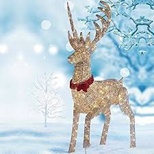 64 1 6m led reindeer outdoor indoor christmas decoration 240 white led