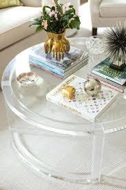round acrylic coffee table ava modern round clear glass acrylic coffee table acrylic coffee table tray