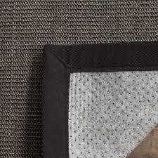 interior portfolio 8x10 sisal rug safavieh casual natural fiber marble and grey border 8 from