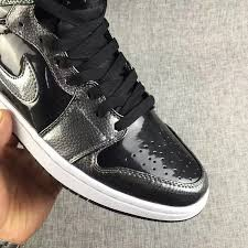 nike air jordan 1 high black patent leather 332550 017 mens basketball shoes shoesmass com