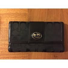 Large Coach Black Logo Wallet