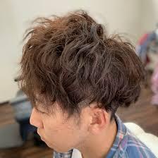 ヘアスタイルミディアムショート パーマ 天童の理髪店 With ウィズ
