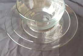 details about 18 piece dinnerware clear glass dish set good condition no chips or s
