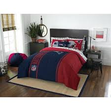 patriots twin bedding the northwest company new patriots full 7 piece bed in a bag with