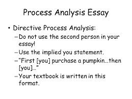 process analysis essay answers the following questions how do i 3 process