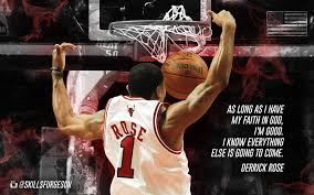 derrick rose wallpaper quotes. New Chicago Bulls Derrick Rose Basketball Quote Wallpaper On Streetballcom In Quotes Pinterest