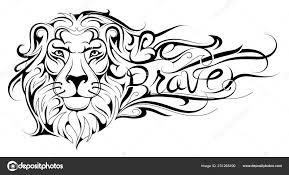 Vzmuž Se Nápisy Tetování Lev Stock Vektor Akvlv 231265490