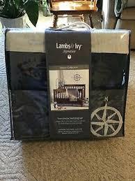 NWT Lambs & Ivy Mason Blue Grey Beige Nautical 4-Piece Bedding Crib Set  84122591141 | eBay