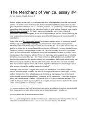 english stanton college preparatory course hero 2 pages the merchant of venice essay 4 copy docx