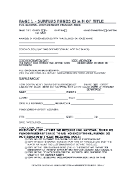 National Surplus Funds Doc Template Pdffiller