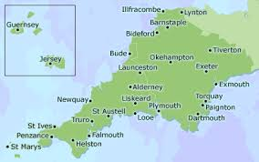 accommodation smooth hound's uk hotel and guest house directory Uk Map Devon cornwall, devon, channel islands, isles of scillymap map of devon uk