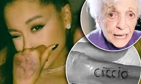 Ariana Grandes Grandmother Nonna 93 Gets A Tattoo On Her Finger