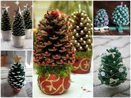 Pine Cone Crafts  Pinecone Christmas Decorations DIY Glitter Pine Cone Christmas Tree Craft Project