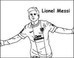 Lionel Messi Coloring Printable Page Sport Coloring Page Lionel