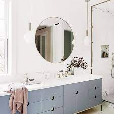 If you opt for a simple base with accents on the walls and floor, you can create drama and flair. Behold The 12 Simple Bathroom Ideas That Gave Us Goosebumps