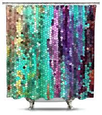 purple shower curtain morning mosaic fabric shower curtain standard size purple flower shower curtain hooks