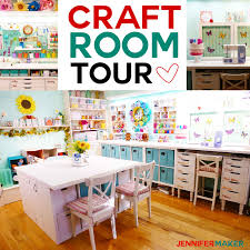 Office craftroom tour Small Tour My Craft Room For Great Organization And Storage Ideas craftroom organization Jennifer Maker Craft Room Tour My Organization And Storage Projects Jennifer Maker