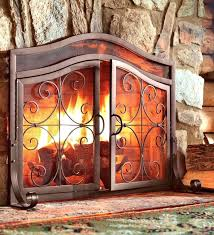 outdoor fireplace screens large fireplace doors installation