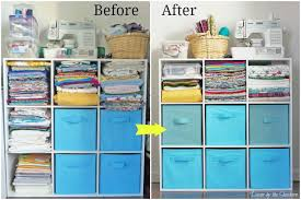 Need help organizing and storing your craft supplies in a small space?  Check out these