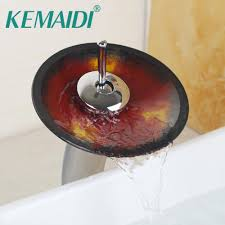 glass bathroom faucets. 2018 Kemaid Bathroom Faucet Advanced Glass Waterfall Chrome Brass Basin Mixer Sink Faucets Tap From Asite, $79.15 | Dhgate.Com A