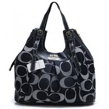Coach In Monogram Medium Black Satchels 483