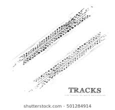 tire skid marks vector.  Marks Tire Tracks Background In Black And White Style Vector Illustration On Skid Marks C