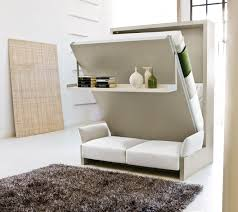 innovative space saving furniture. reversible sofa and pulled bed completing comfy bedroom using innovative space saving furniture