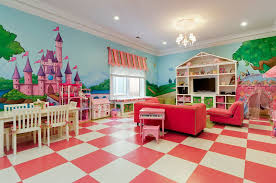 Kids Bedroom With Chandelier Simple Marble Tile Floors In Great
