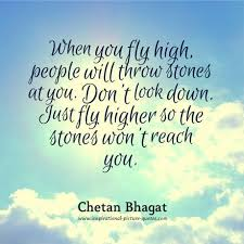 Flying Quotes Custom Chetan Bhagat Inspirational Quote Binks Don't Let Others