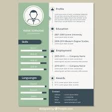 Vintage resume template Free Vector