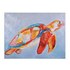 on sea turtle canvas wall art with colorful sea turtle canvas art print kirklands